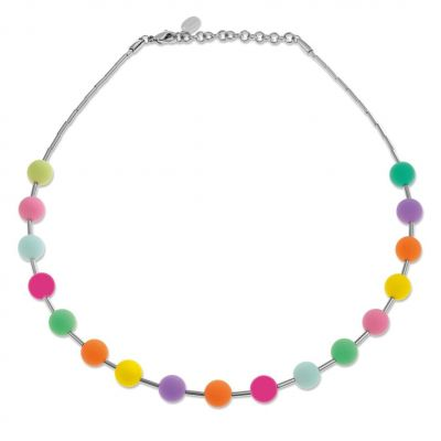 Ladies Swatch Bijoux Silver Plated Acolori Multicolour Necklace JPD046-U