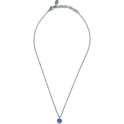 Ladies Swatch Bijoux Stainless Steel Puntoluce Tanzanite Crystal Necklace JPV013-U