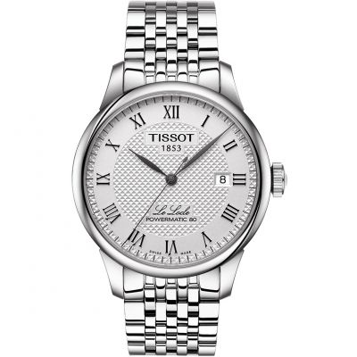 Tissot T-Classic Le Locle Powermatic 80 Herrenuhr in Silber T0064071103300