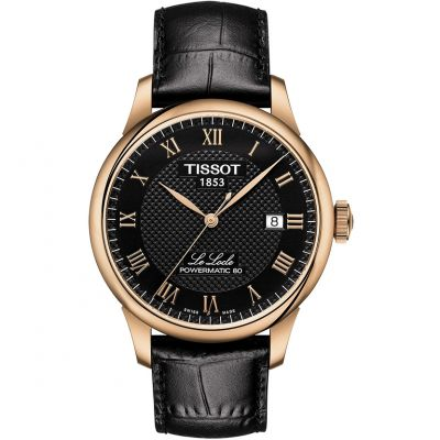 Tissot T-Classic Le Locle Powermatic 80 Herrenuhr in Schwarz T0064073605300