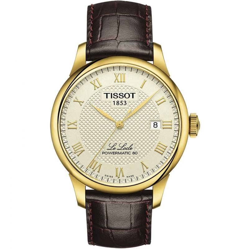 Mens Tissot Le Locle Powermatic 80 Automatic Watch T0064073626300