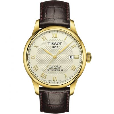 Tissot T-Classic Le Locle Powermatic 80 Herrenuhr in Braun T0064073626300