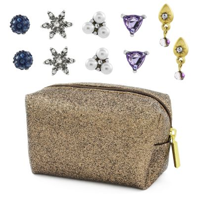 Ladies Lonna And Lilly Base metal Set of 5 Stud Earrings 60444010-3CE