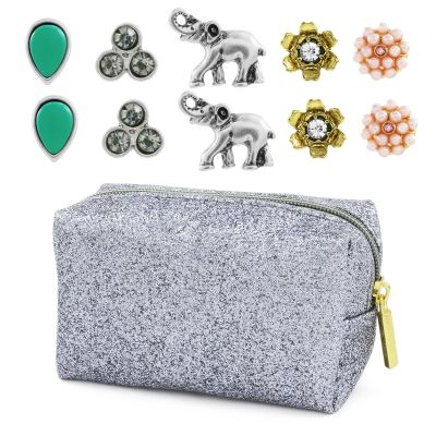 Damen Lonna And Lilly Set of 5 Stud Ohrringe Basismetall 60444009-906