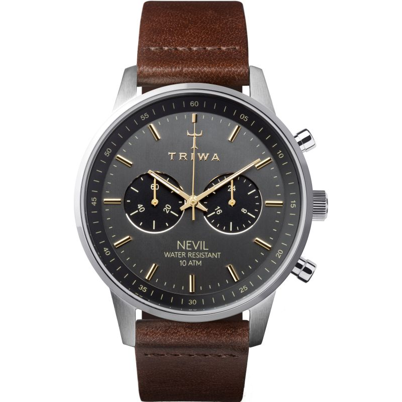 Mens Triwa Smoky Nevil Chronograph Watch