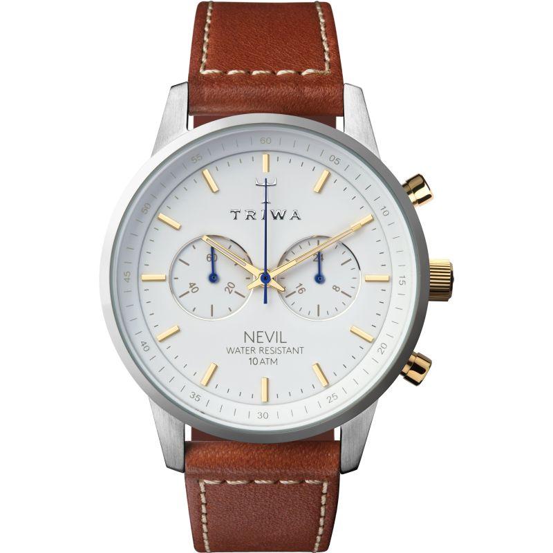 Mens Triwa Snow Nevil Chronograph Watch