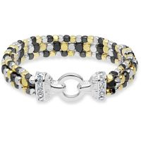 Ladies Nine West Two-tone steel/gold plate Multi Row Stretch Bracelet 60450259-Z01