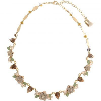 Ladies Lonna And Lilly Gold Plated Flower Collar Necklace 60451909-2GR