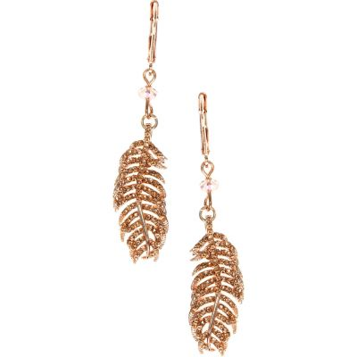 Ladies Lonna And Lilly Gold Plated Feather Earrings 60451919-9DH