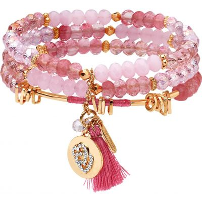Lonna And Lilly Dam Set of 3 Stretch Bracelets Guldpläterad 60451926-D99