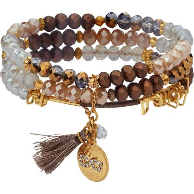 Lonna And Lilly Dam Set of 3 Stretch Bracelets Guldpläterad 60451927-C48