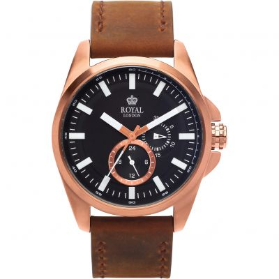 Royal London Herenhorloge Bruin 41356-05