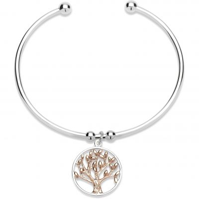 Ladies Unique & Co Sterling Silver Bangle MB-584