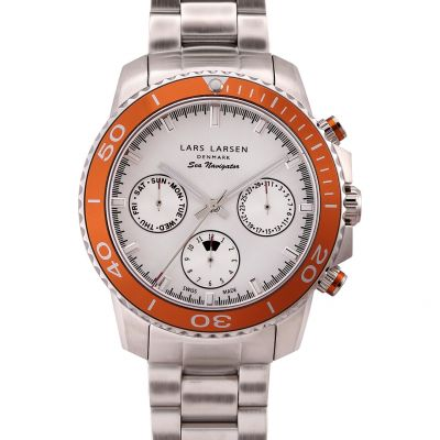 Mens Lars Larsen Chronograph Watch 134SSOSB