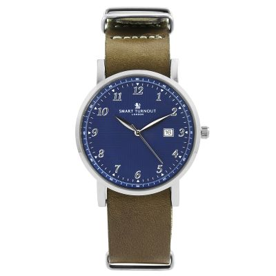 Smart Turnout Savant with Grey Leather Strap Unisexuhr in Khakifarben STH5/SN/56/W-GRE