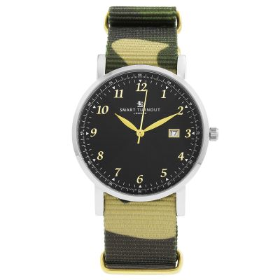 Montre Unisexe Smart Turnout Savant with Camo Strap STH5/SB/56/W-CAMO