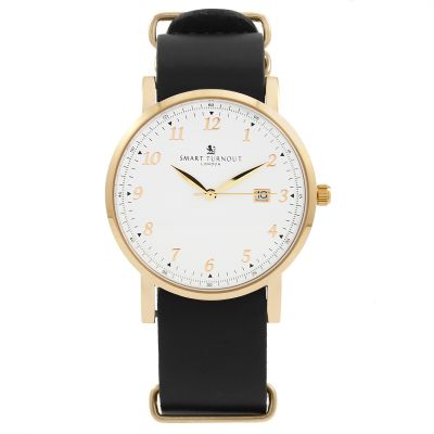 Unisex Smart Turnout Savant with Black Leather Strap Watch STH5/RW/56/W-BLA