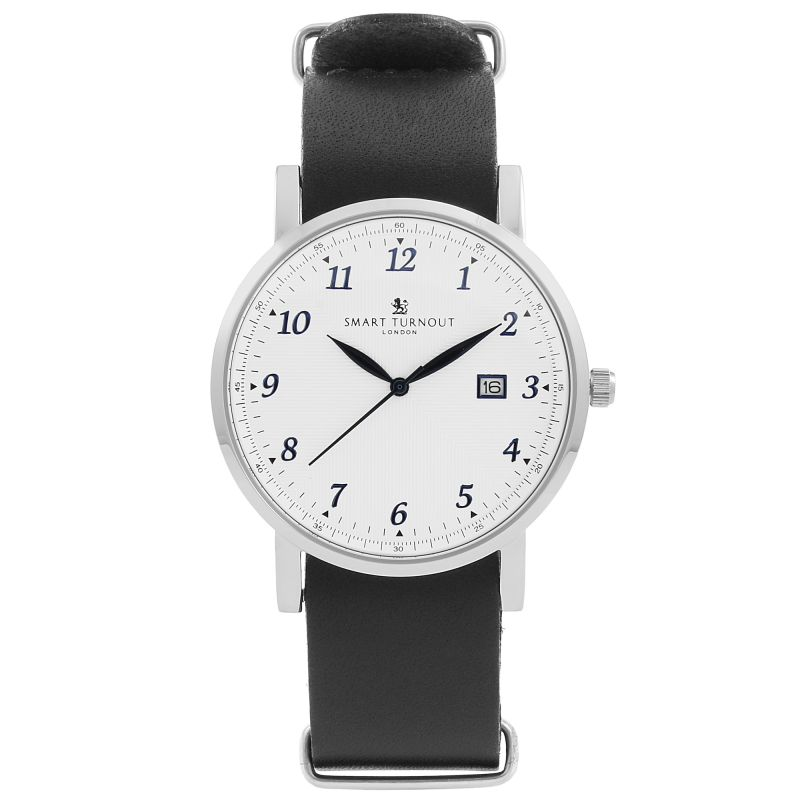 Unisex Smart Turnout Savant with Navy Leather Strap Watch