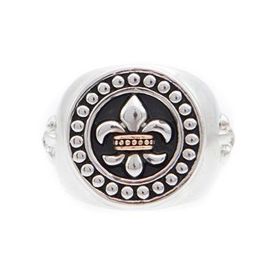 Bijoux Homme Icon Brand Rebel Heritage Lys Sovereign Bague Size Large RH016-R-BLK-LGE