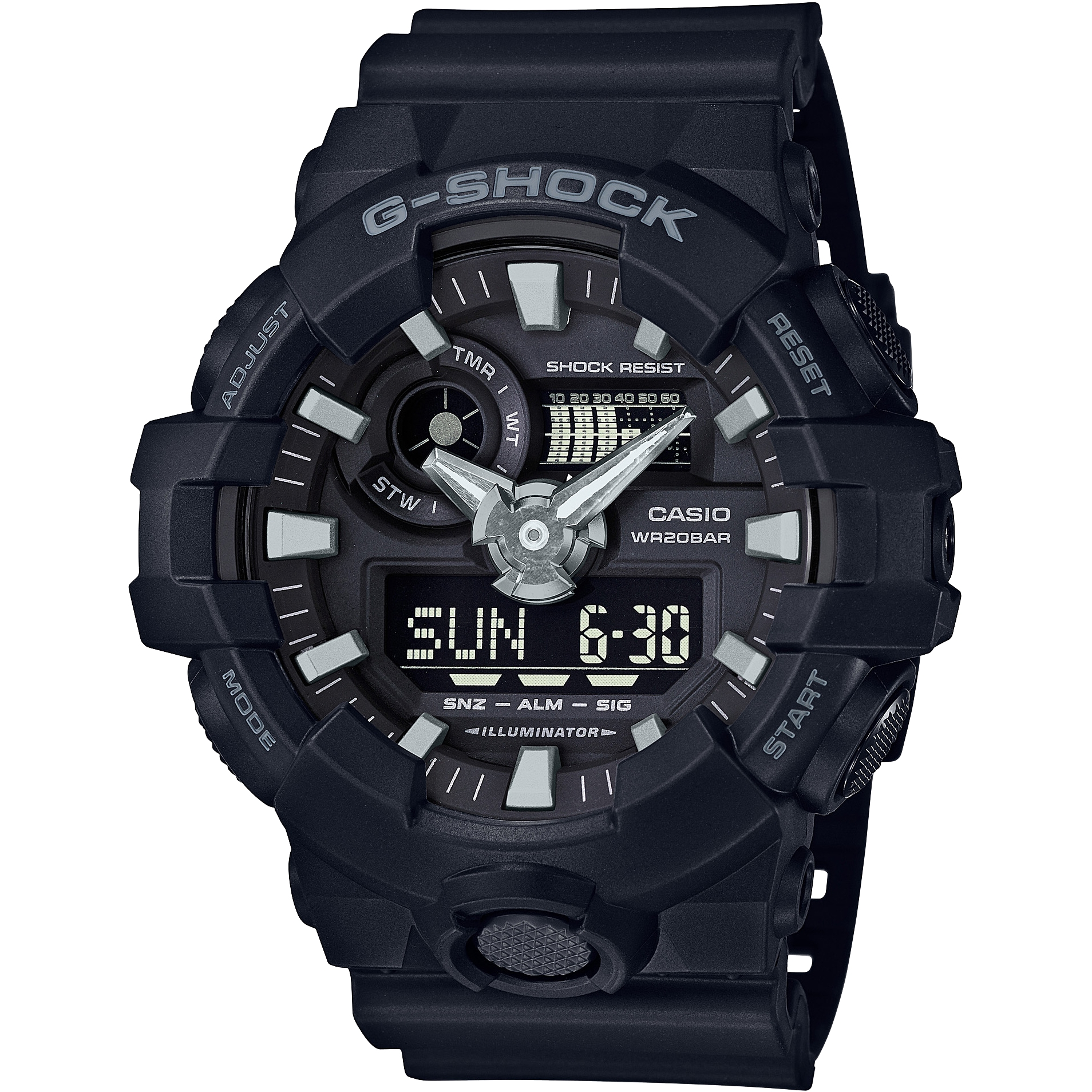 4557dff5eaa Gents Casio G-Shock Alarm Chronograph Watch (GA-700-1BER ...