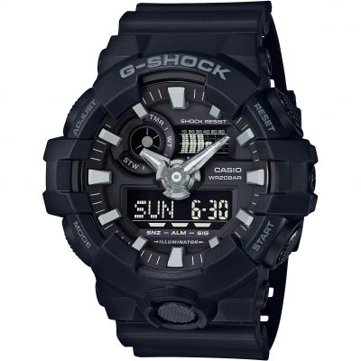 Casio G-Shock Herrenchronograph in Schwarz GA-700-1BER
