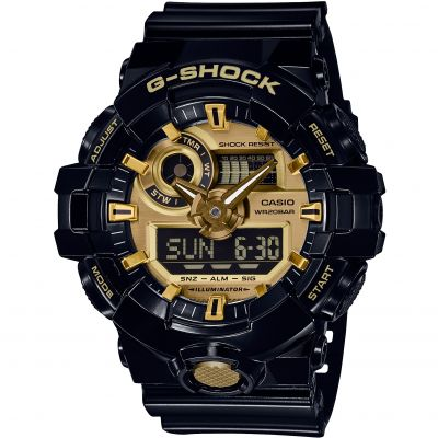 Mens Casio G-Shock Alarm Chronograph Watch GA-710GB-1AER