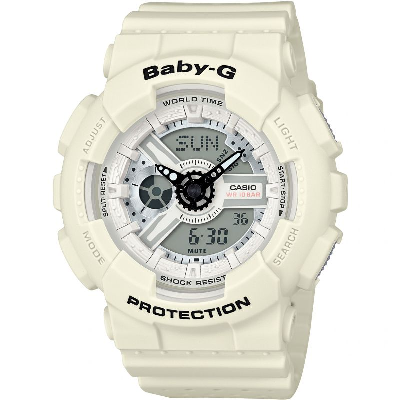 Ladies Casio Baby-G Punching Pattern Alarm Chronograph Watch BA-110PP-7AER