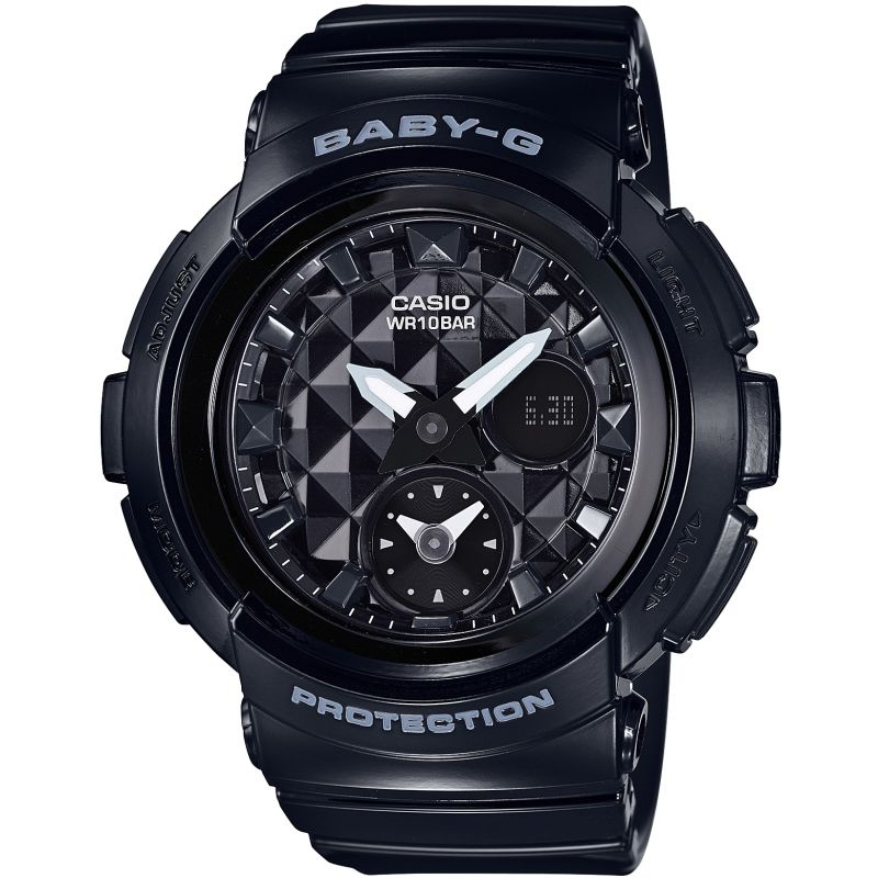Ladies Casio Baby-G Stud Dial Chronograph Watch
