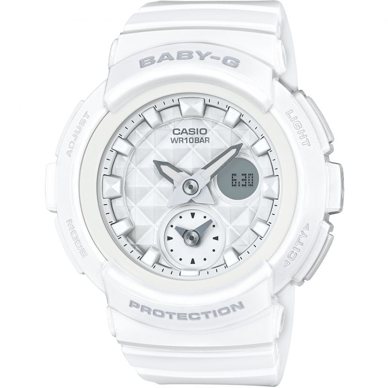 Ladies Casio Baby-G Stud Dial Chronograph Watch BGA-195-7AER