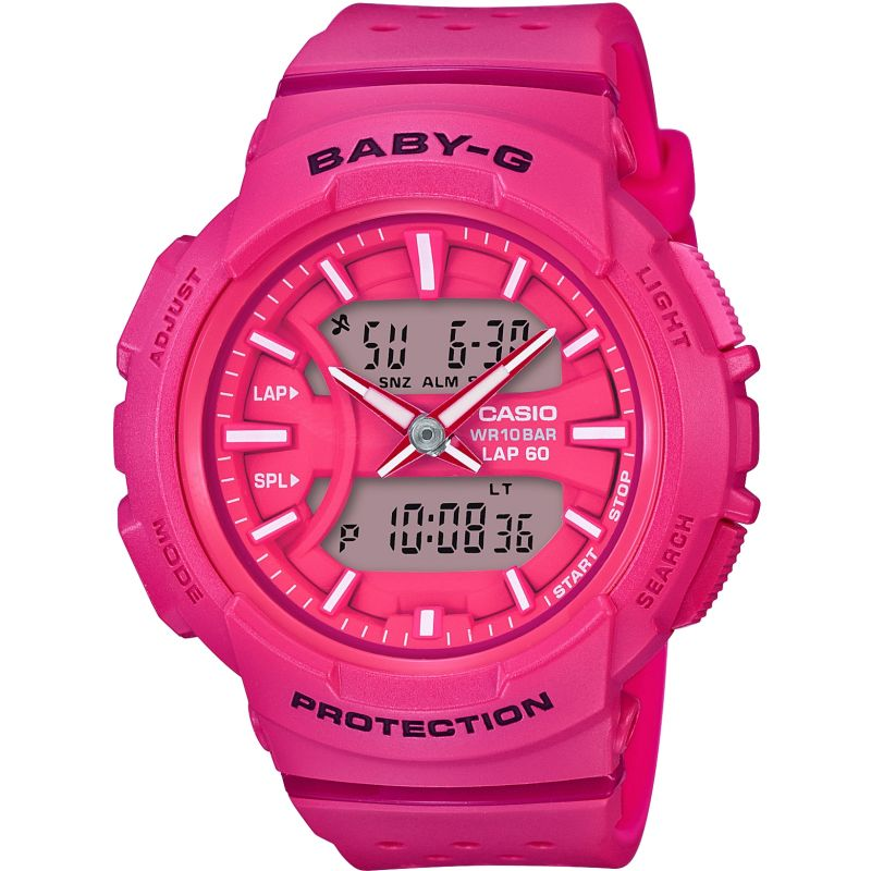 Ladies Casio Baby-G 60 Lap Alarm Chronograph Watch
