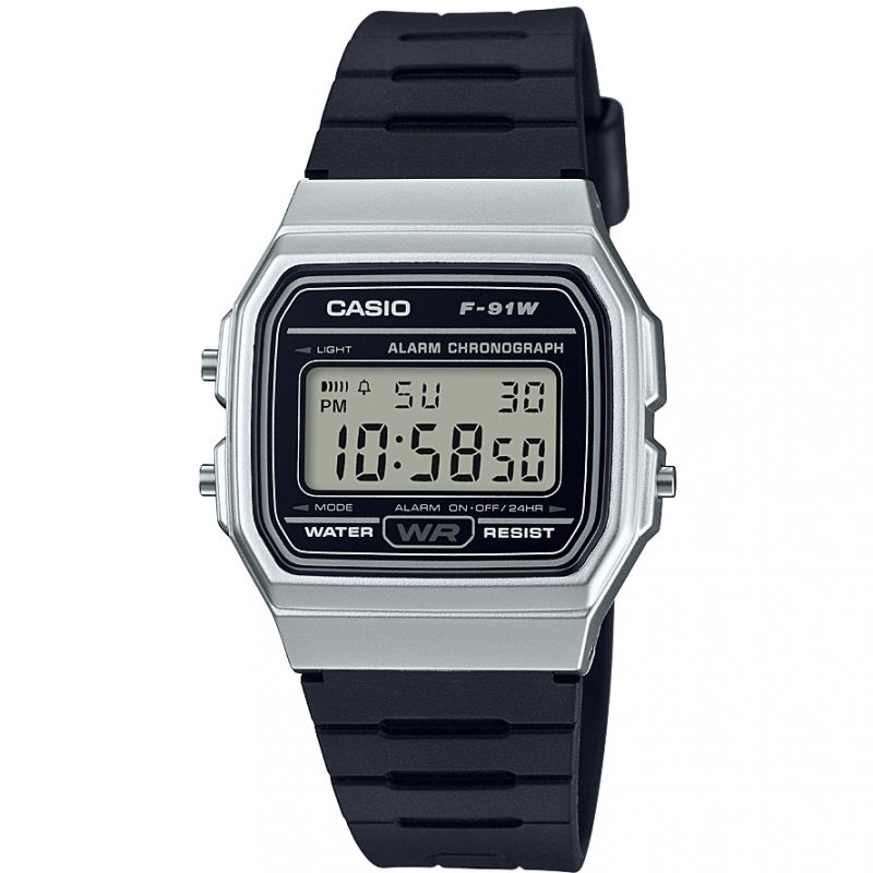 Unisex Casio Classic Collection Alarm Chronograph Watch F-91WM-7AEF