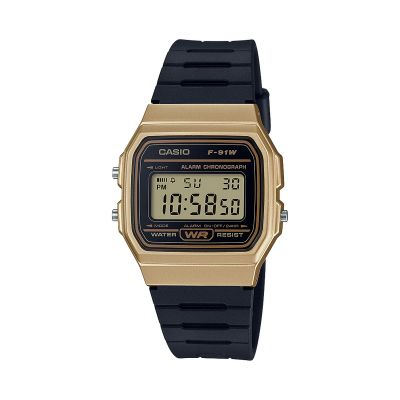 Casio Classic Collection Unisexchronograph in Schwarz F-91WM-9AEF