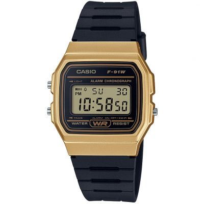 Casio Classic Collection Unisexkronograf Svart F-91WM-9AEF