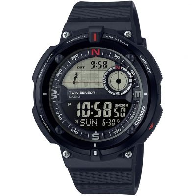 Mens Casio Classic Travel World Time Compass Thermometer Alarm Chronograph Watch SGW-600H-1BER