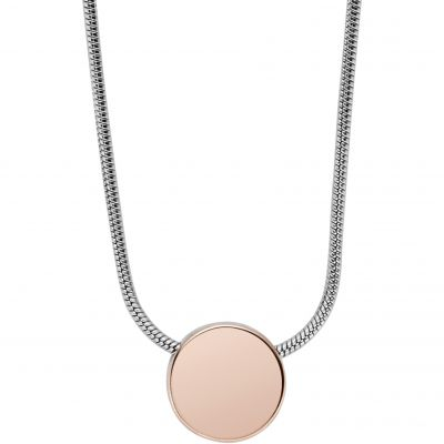Ladies Skagen Two-Tone Steel and Rose Plate Elin Necklace SKJ0954998