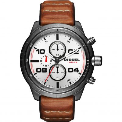 Mens Diesel Padlock Chronograph Watch DZ4438
