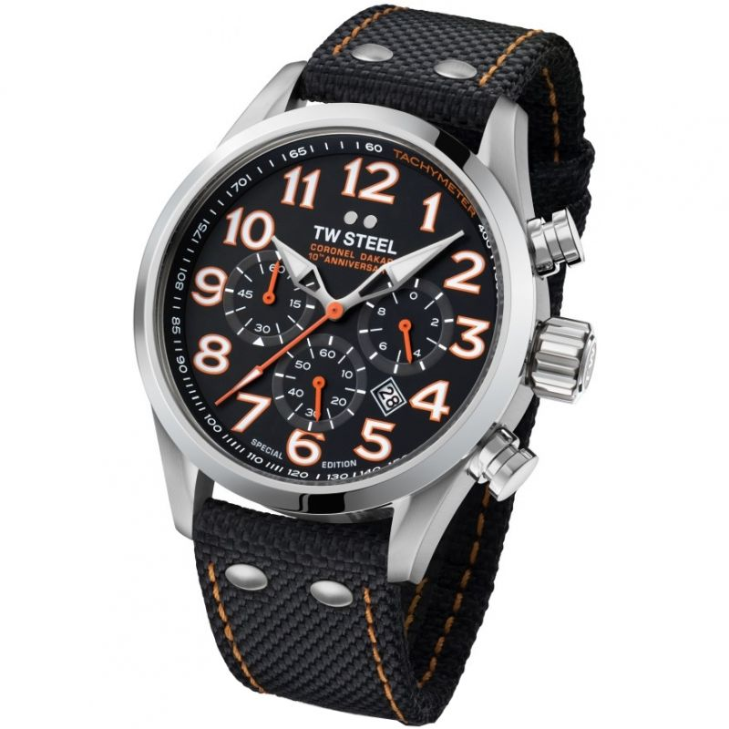 Mens TW Steel Dakar Special Edition Chronograph 48mm Watch
