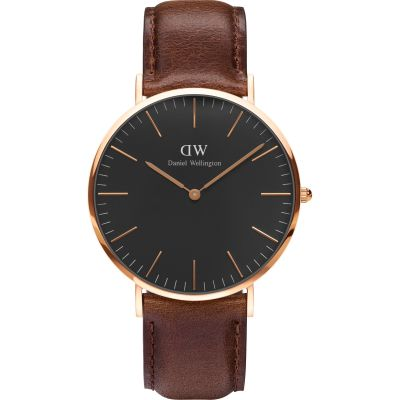 Unisex Daniel Wellington Classic Black Bristol Watch 40mm Watch DW00100125