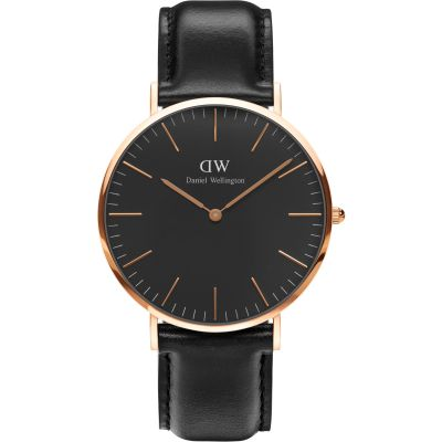 Daniel Wellington Classic Black Sheffield Watch 40mm Unisexuhr in Schwarz DW00100127
