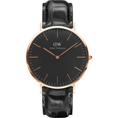 Daniel Wellington Classic Black Reading Watch 40mm Unisexuhr in Schwarz DW00100129