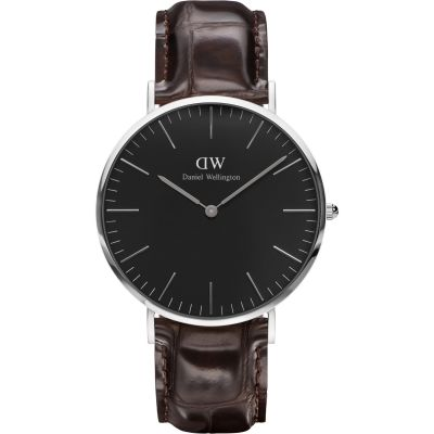 Daniel Wellington Classic Black York Watch 40mm Unisexuhr in Braun DW00100134