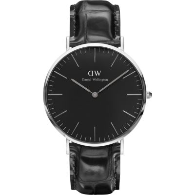 Daniel Wellington Classic Black Reading Watch 40mm Unisexuhr in Schwarz DW00100135
