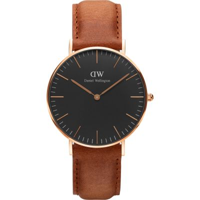 Daniel Wellington Classic Black Durham Watch 36mm Unisexuhr in Braun DW00100138