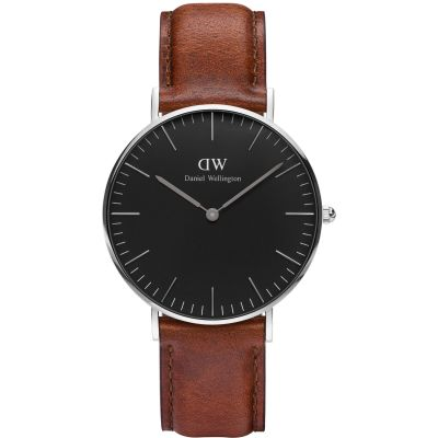 Daniel Wellington Classic Black St Mawes Watch 36mm Unisexuhr in Braun DW00100142