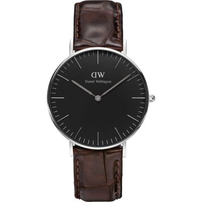 Daniel Wellington Classic Black York Watch 36mm Unisexuhr in Braun DW00100146