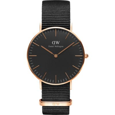 Daniel Wellington Classic Black Cornwall Watch 36mm Unisexuhr in Schwarz DW00100150