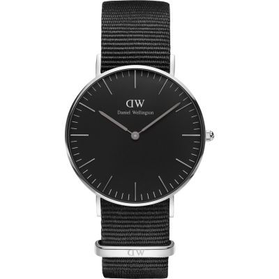 Daniel Wellington Classic Black Cornwall Watch 36mm Unisexuhr in Schwarz DW00100151