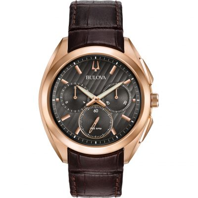Bulova Progressive Dress CURV Herenchronograaf Bruin 97A124
