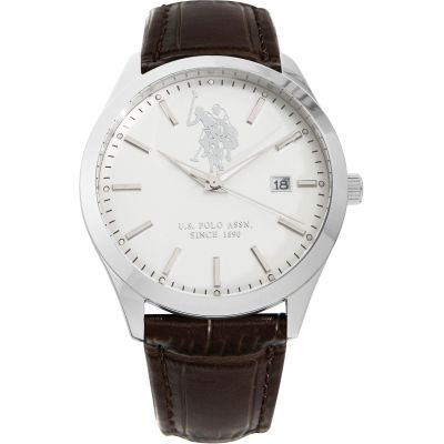 US Polo Association Herenhorloge Bruin USP4381ST
