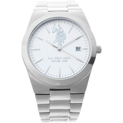 US Polo Association Herenhorloge Zilver USP5316ST